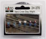 Kato (USA) 24-270  Figures - Yard Crew Day/Night (6 per pkg)